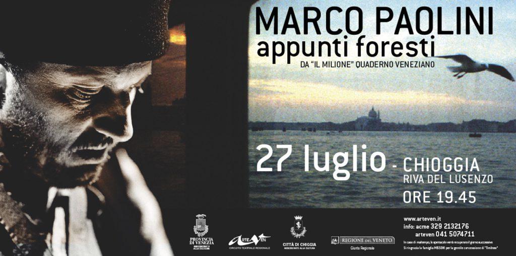 Marco Paolini Appunti Foresti